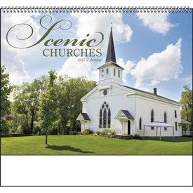 Customized Scenic Churches Spiral Calendar