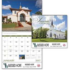 Scenic Churches Spiral Calendar for Your Organization
