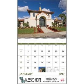 Custom Scenic Churches Spiral Calendar