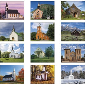 Scenic Churches Spiral Calendar for Customization