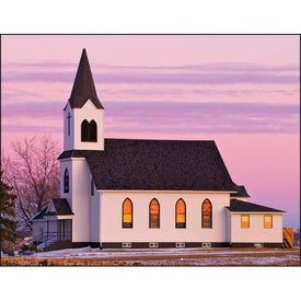 Scenic Churches Spiral Calendar with Your Logo