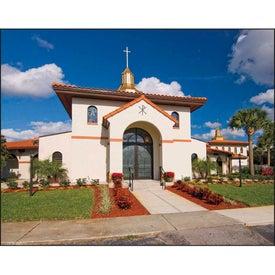 Personalized Scenic Churches Spiral Calendar