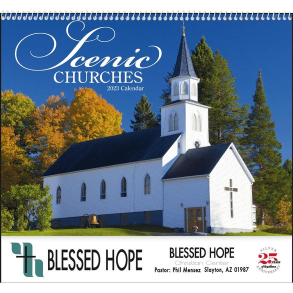 Scenic Churches Spiral Calendar