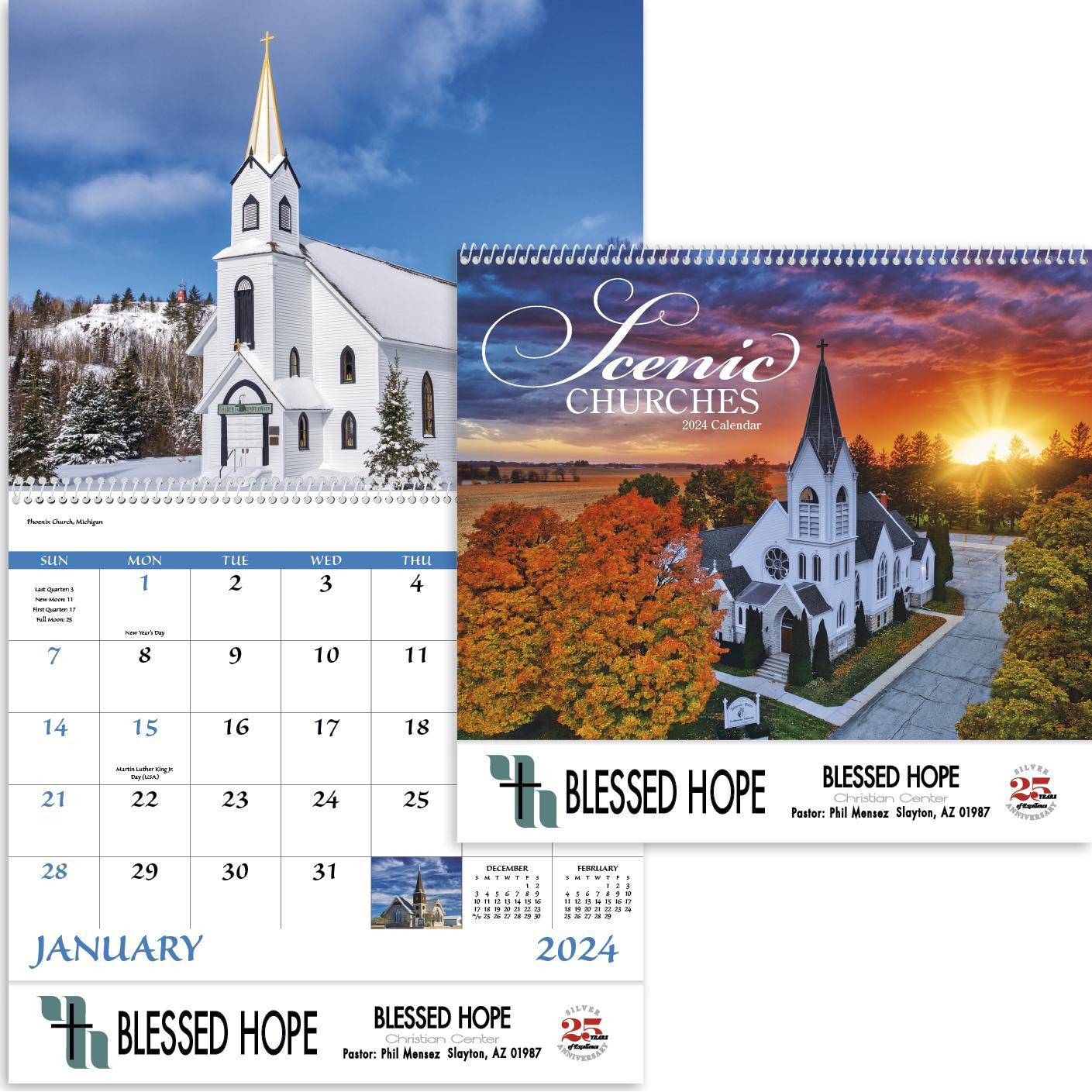 Scenic Churches Spiral Calendar (2020)