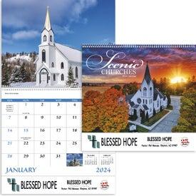 Scenic Churches Spiral Calendar (2017)