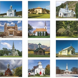Scenic Churches Stapled Calendar for Your Organization