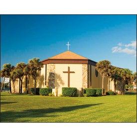Monogrammed Scenic Churches Stapled Calendar