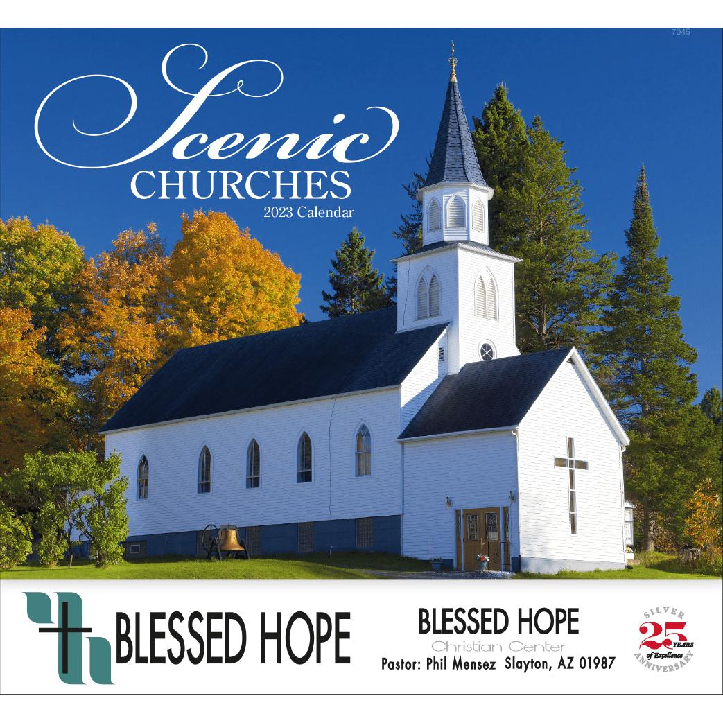 Church Calendar Design.Scenic Churches Stapled Calendar 2020