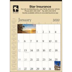 Scenic Contractor Calendar (Tan, 2020)