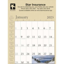 Scenic Contractor Calendar (Tan, 2019)