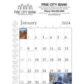 Monogrammed Scenic Contractor Calendar