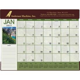 Printed Scenic Desk Pad Calendar