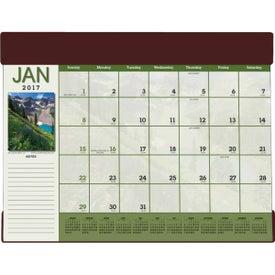Custom Scenic Desk Pad Calendar