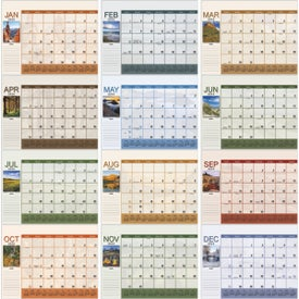 Scenic Desk Pad Calendar for Advertising