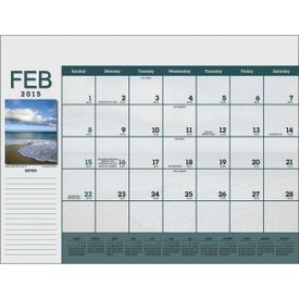 Scenic Desk Pad Calendar for Your Company