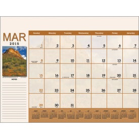 Personalized Scenic Desk Pad Calendar