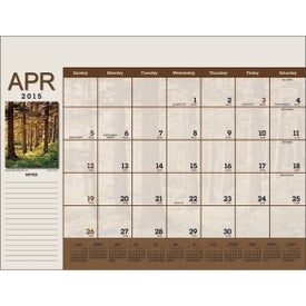 Advertising Scenic Desk Pad Calendar