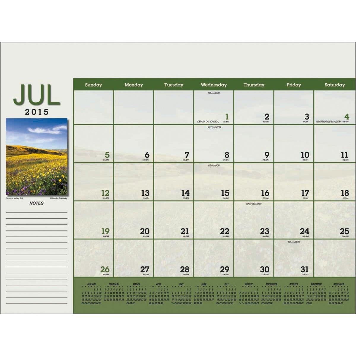 ... 178kB, Scenic Desk Pad Calendar (2015) | Custom Calendars | 7.47 Ea