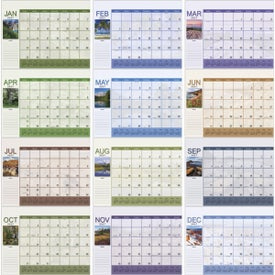 Scenic Desk Pad Calendar with Your Logo