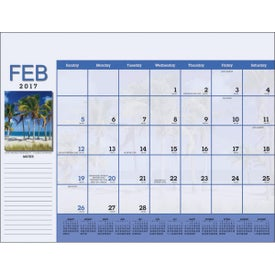 Scenic Desk Pad Calendar for Your Organization