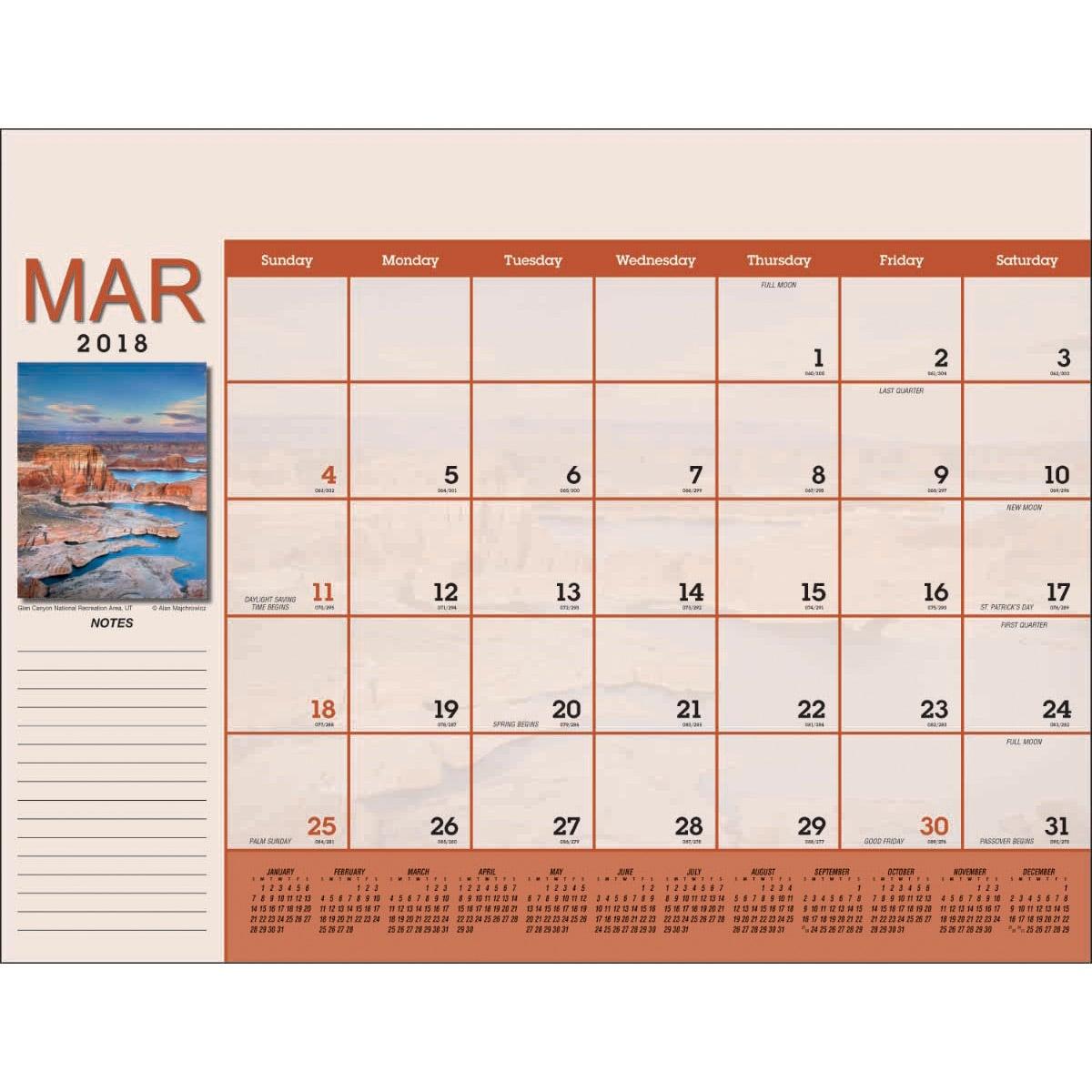 Scenic Desk Pad Calendar 2018 Custom Calendars 8 54 Ea