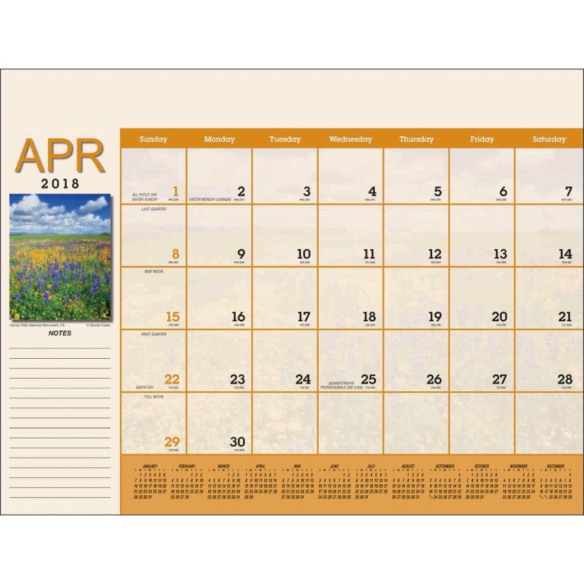 Scenic Desk Pad Calendar 2018 Custom Calendars