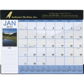 Branded Scenic Desk Pad Calendar