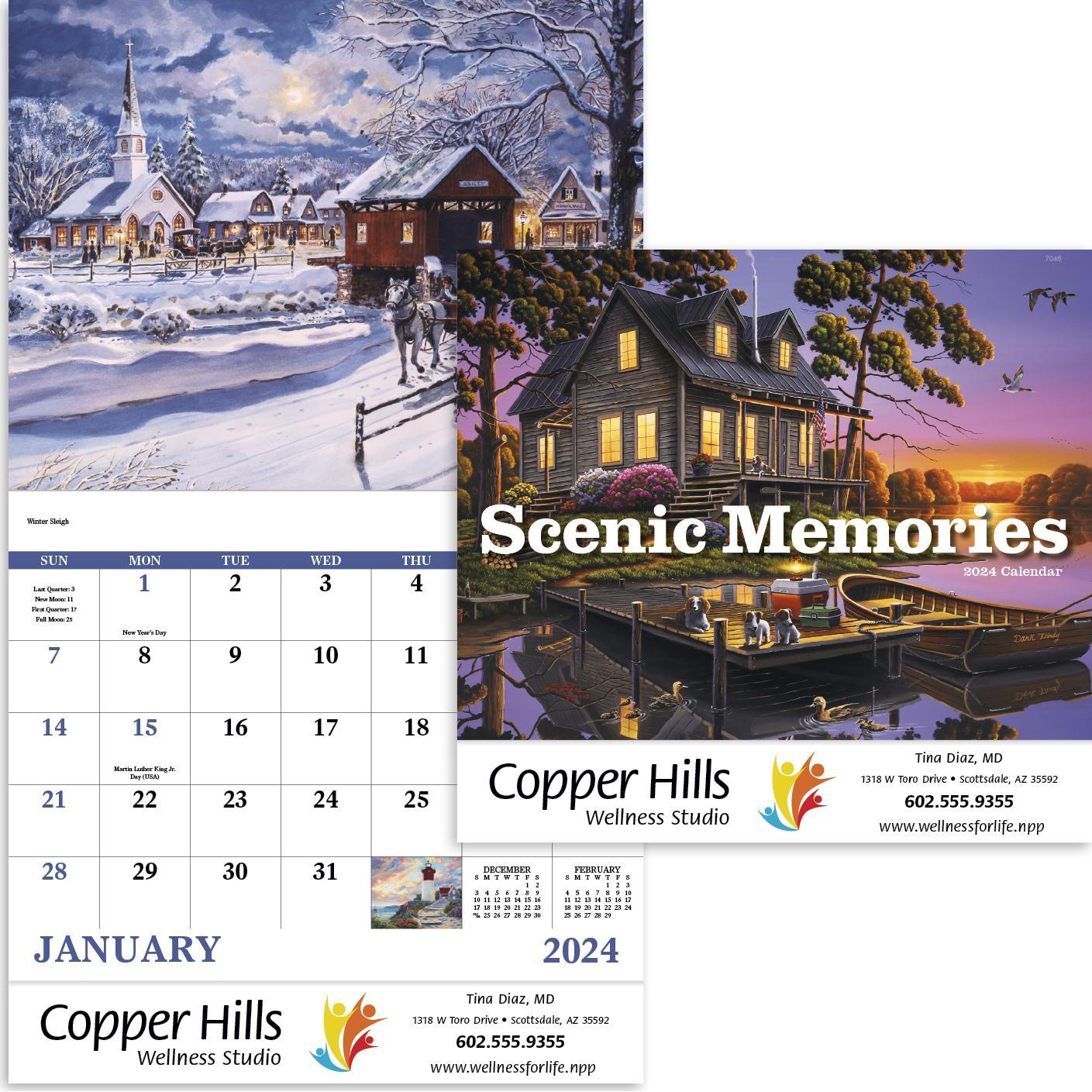 Scenic Memories Calendar (Stapled)