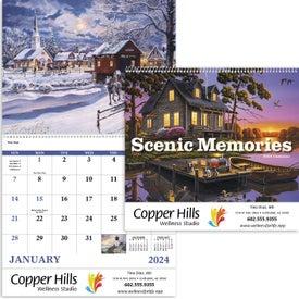 Scenic Memories Calendar (2020, Spiral)