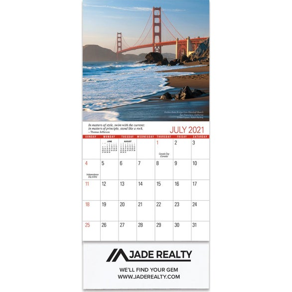 See Item Scenic Mini Wall Calendar