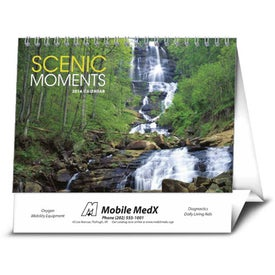 Custom Scenic Moments Large Desk Calendar