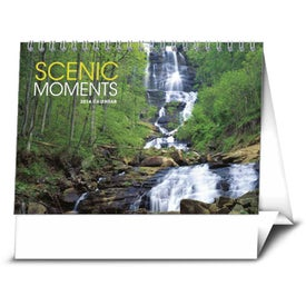 Scenic Moments Large Desk Calendar Printed with Your Logo