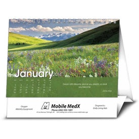 Scenic Moments Large Desk Calendar Imprinted with Your Logo