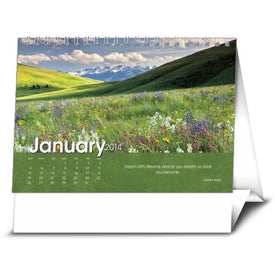 Customized Scenic Moments Large Desk Calendar