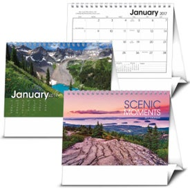 Promotional Scenic Moments Large Desk Calendar