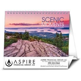 Logo Scenic Moments Large Desk Calendar