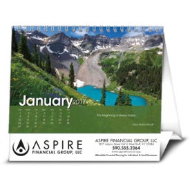 Scenic Moments Large Desk Calendar with Your Logo