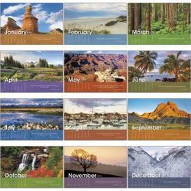 Scenic Moments Large Desk Calendar for Customization