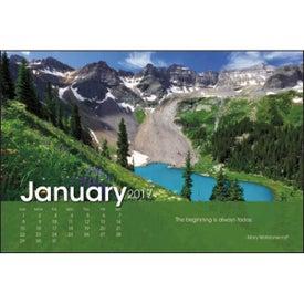 Customized Scenic Moments Large Desk Calendar