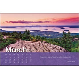 Scenic Moments Large Desk Calendar for Your Organization