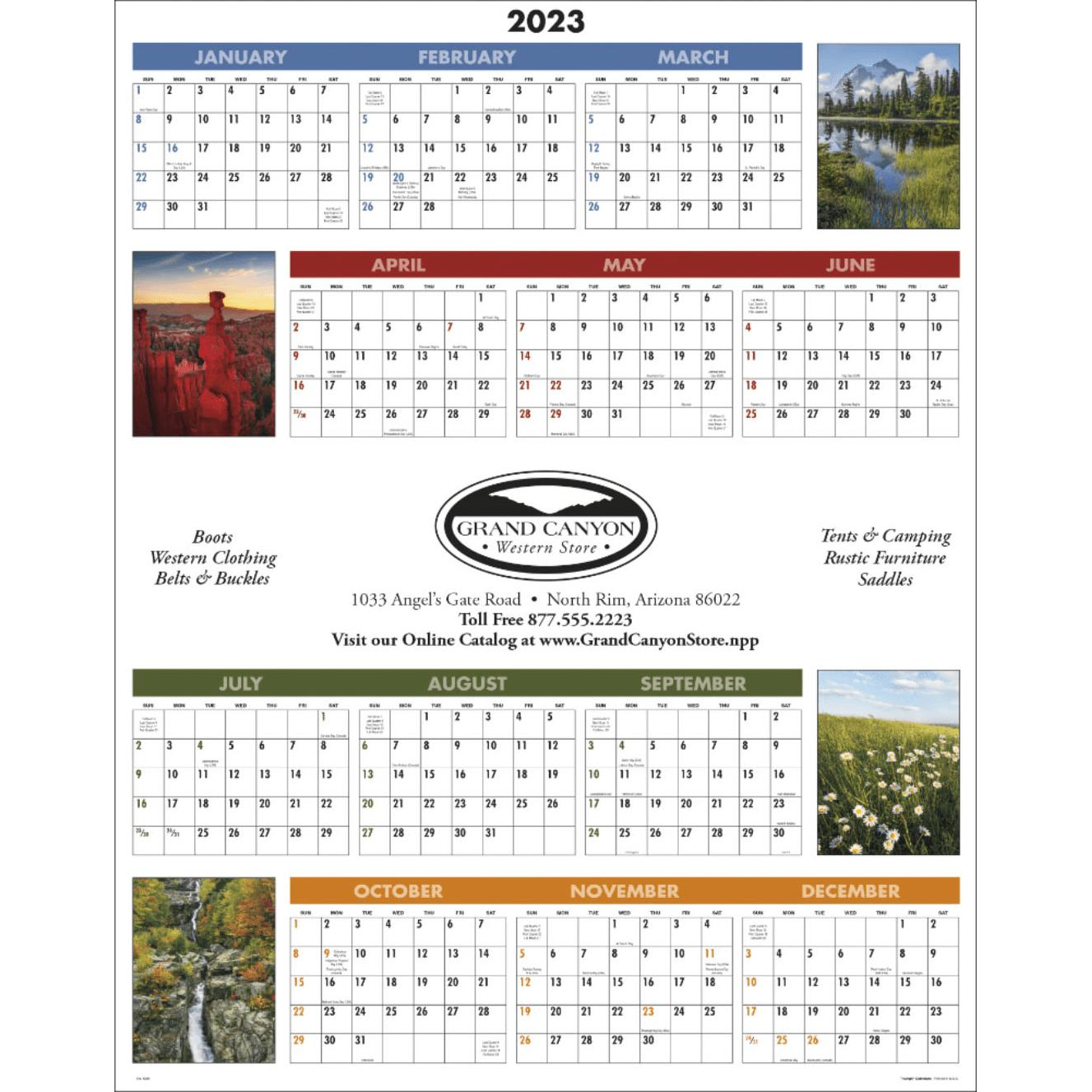 see item scenic span a year calendar 2019 promotional