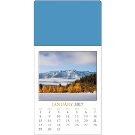 Custom Scenic Stick Up Grid Calendar