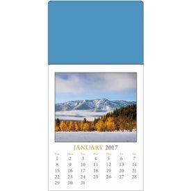 Custom Scenic Stick Up Grid Calendar