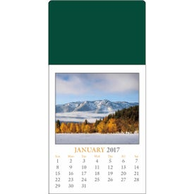 Scenic Stick Up Grid Calendar with Your Slogan