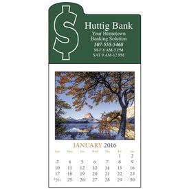 Advertising Scenic Stick Up Grid Calendar