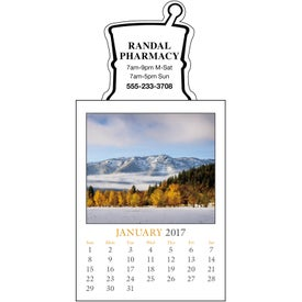 Scenic Stick Up Grid Calendar Printed with Your Logo