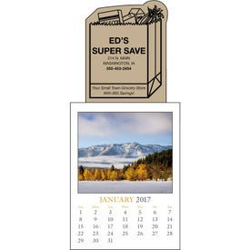 Scenic Stick Up Grid Calendar Imprinted with Your Logo
