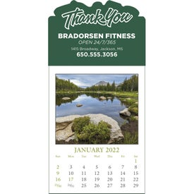 Monogrammed Scenic Stick Up Grid Calendar