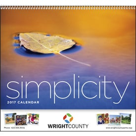 Promotional Simplicity Appointment Calendar