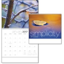 Customized Simplicity Appointment Calendar